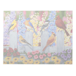 De kleurrijke Partij van de Tuin van de Vogels van Notitieblok