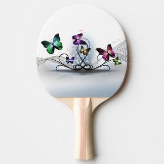 De kleurrijke Peddel van de Pingpong van Vlinders Tafeltennisbatje