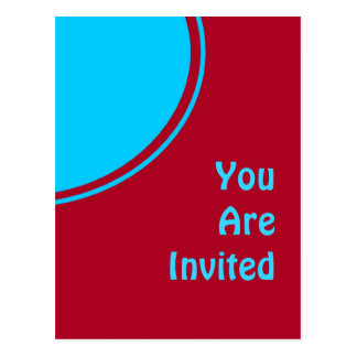 De kleurrijke Rode Turkooise Retro Partij nodigt Briefkaart