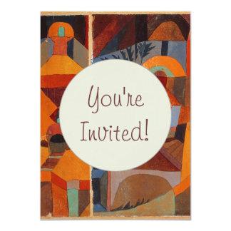 De kleurrijke Samenvatting van Paul Klee van het 11,4x15,9 Uitnodiging Kaart