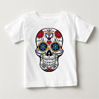 De kleurrijke Schedel van de Suiker Baby T Shirts