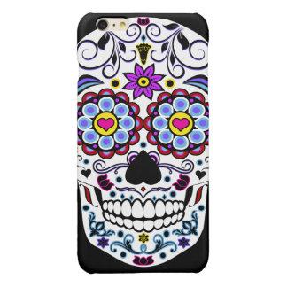 De kleurrijke Schedel van de Suiker iPhone 6 Plus Hoesje Glanzend