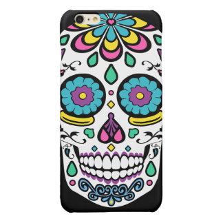 De kleurrijke Schedel van de Suiker van het Snoep Glossy iPhone 6 Plus Hoesje