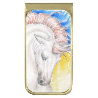 De kleurrijke Spaanse Waterverf van het Paard Vergulde Geldclip