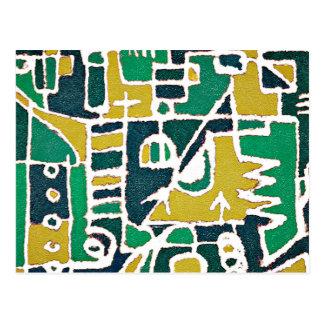 De kleurrijke Stammen Abstracte Druk van het Briefkaart