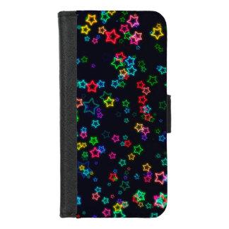De kleurrijke Ster van het Neon van de Pop iPhone 8/7 Portemonnee Hoesje