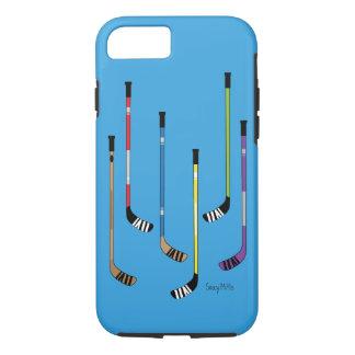 De kleurrijke Stokken van het Hockey iPhone 8/7 Hoesje