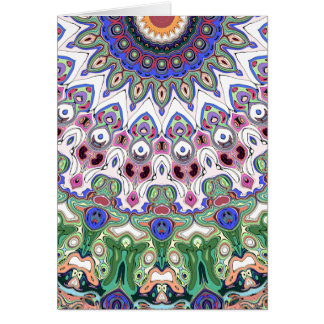 De kleurrijke Stralen van de Zon Wenskaart