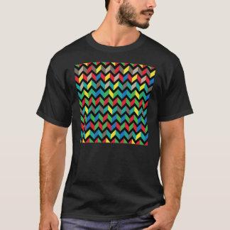 De Kleurrijke T-shirt van de zigzag