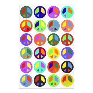 De kleurrijke Tekens van de Vrede Briefpapier