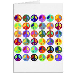De kleurrijke Tekens van de Vrede Wenskaart