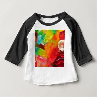 de kleurrijke textuur van de geleigom baby t shirts