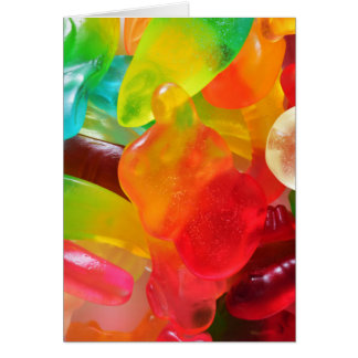 de kleurrijke textuur van de geleigom briefkaarten 0