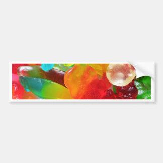 de kleurrijke textuur van de geleigom bumpersticker