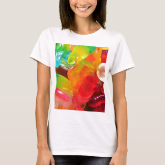 de kleurrijke textuur van de geleigom t shirt