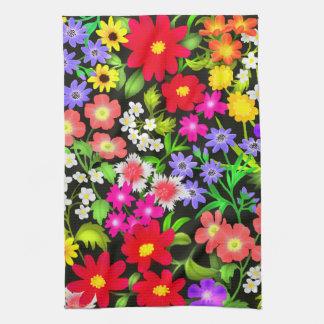 De kleurrijke Tuin bloeit de Handdoek van de Keuke