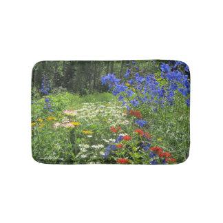 De kleurrijke Tuin van de Lente! Badmat