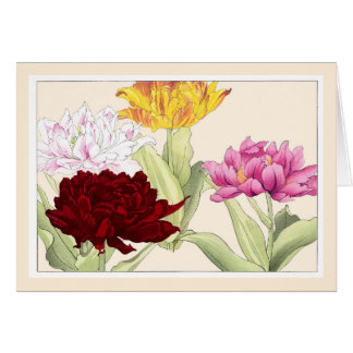 De kleurrijke Tulpen van de Papegaai, de Kaart