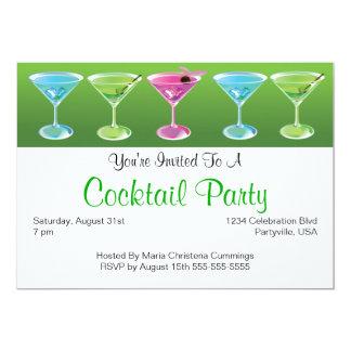 De kleurrijke Uitnodiging van Cocktails