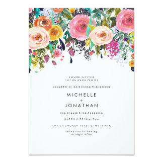 De kleurrijke Uitnodiging van het Huwelijk van de