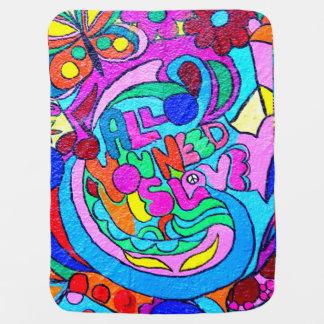 de kleurrijke van het hippie-stijl deken inbakerdoek