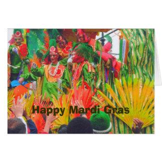 De Kleurrijke vlotter van MG en ruiters, Gelukkige Kaart