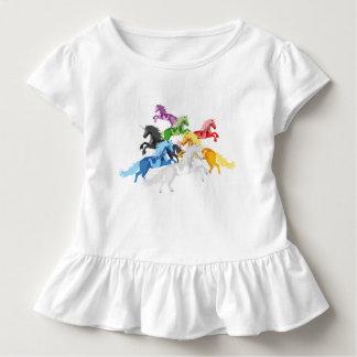 De kleurrijke wilde Eenhoorns van de illustratie Kinder Shirts