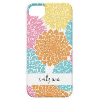 De kleurrijke Zomer bloeit Patroon Barely There iPhone 5 Hoesje