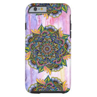 De kleurrijke Zomer Mandala met de Achtergrond van Tough iPhone 6 Hoesje