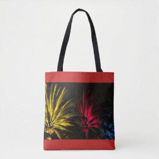 De kleurrijke Zwarte van de Palmen van de Woestijn Draagtas