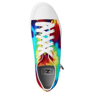 De Kleurstof van het stropdas kijkt Zipz sneakers
