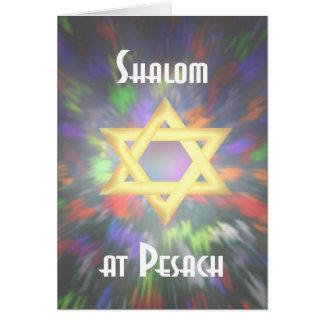 De kleurstof van het Stropdas van Shalom in Pesach Briefkaarten 0