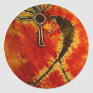De Kleurstoffen van Phat van Kokopelli binden Ronde Sticker