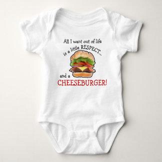 De klimplant van de Cheeseburger van het baby Romper