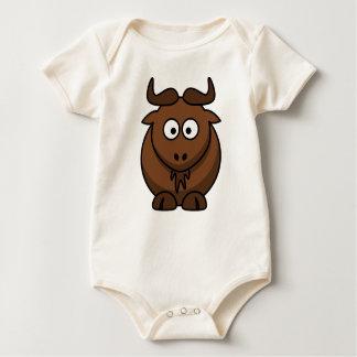 De klimplant van de geit voor nieuwe babys baby shirt