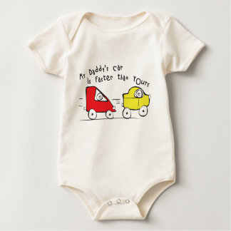 De Klimplant van het baby de Auto van Mijn Papa is Baby Shirt