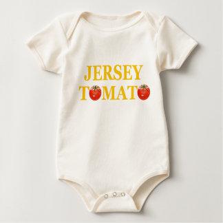 De Klimplant van het Baby van de Tomaat van Jersey Baby Shirt