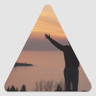 De Klip van de zonsondergang Stickers