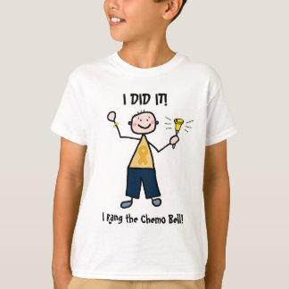 De Klok van Chemo - het Gouden Lint van Kanker van T Shirt