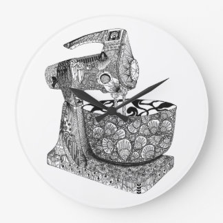 de klok van de de keukenmuur van de art decomixer