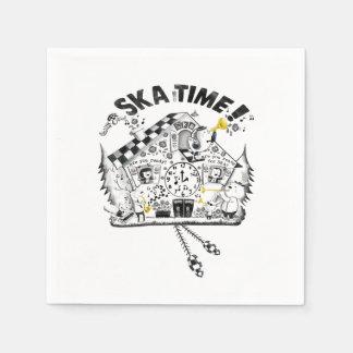 De Klok van de Koekoek van de Tijd van Ska Papieren Servet