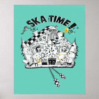 De Klok van de Koekoek van de Tijd van Ska Poster