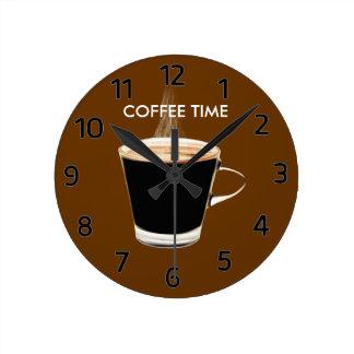 De Klok van de Muur van de Tijd van de koffie