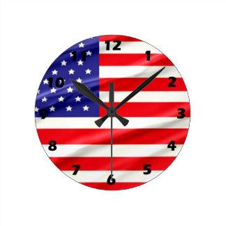 De Klok van de Muur van de Vlag van de V.S.