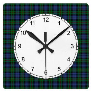 De Klok van de Muur van het Geruite Schotse wollen