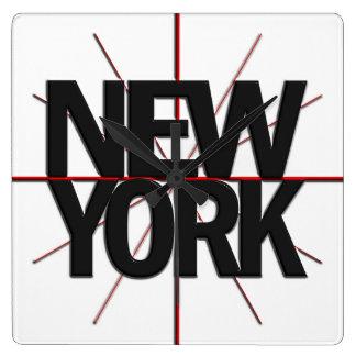 De Klok van de Muur van New York Timezone