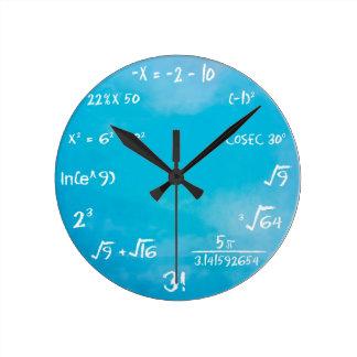 De Klok van de Quiz van wiskunde - het Blauw van