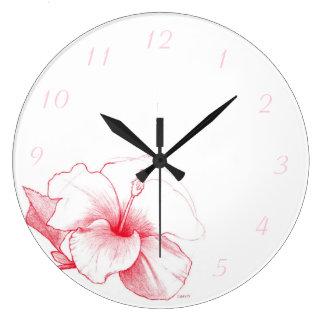 De klok van de Schets van de hibiscus