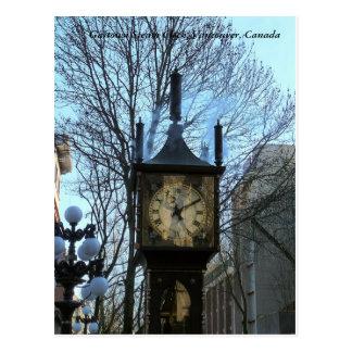 De Klok van de Stoom van Gastown, Vancouver, Briefkaart