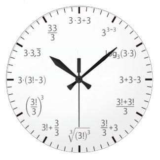 De klok van de wiskunde drie eenvoudig & beautyful